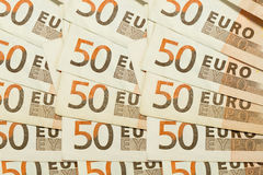 struttura di 50 un'euro fatture della banconota Immagine Stock