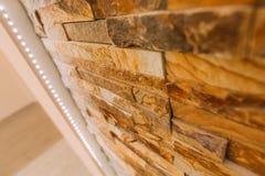 Struttura di un muro di mattoni di pietra Fotografie Stock