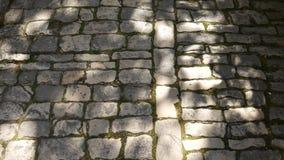 Struttura di un muro di mattoni di pietra Strutture naturali video d archivio