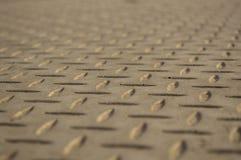 Struttura di una lastra di cemento armato con un modello fotografia stock