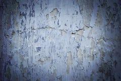 Struttura di una parete bianca con le crepe blu Fotografia Stock Libera da Diritti