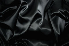 Struttura di una seta nera Immagini Stock Libere da Diritti