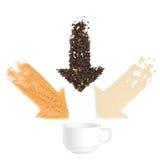 Struttura di una tazza di tè Fotografia Stock Libera da Diritti