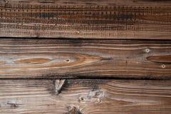 Struttura di vecchi bordi di legno dell'età marrone invecchiati Reticolo immagine stock