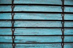Struttura di vecchi ciechi blu fotografia stock