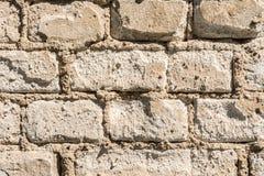 Struttura di vecchia parete dei blocchetti del mattone, del mattone sparso e della muratura, fondo astratto di architettura Fotografia Stock Libera da Diritti