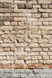 Struttura di vecchia parete dei blocchetti del mattone, del mattone sparso e della muratura, fondo astratto di architettura Fotografie Stock