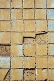 Struttura di vecchia parete delle mattonelle fotografie stock