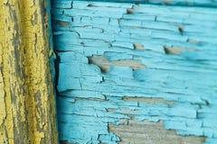 Struttura di vecchia parete di legno dipinta Immagini Stock