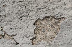 Struttura di vecchia parete sporca grigia di lerciume con il gesso della sbucciatura e Immagine Stock