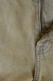 Struttura di vecchia parte dei jeans del denim di Brown dei pantaloni fotografie stock libere da diritti