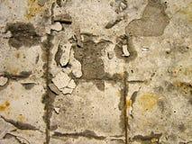 Struttura di vecchio calcestruzzo distrutto Immagini Stock Libere da Diritti