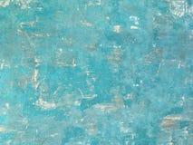 Struttura di vecchio fondo di legno misero blu La struttura di un turchese d'annata ha dipinto la mano del legno fotografie stock