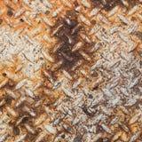 Struttura di vecchio metallo arrugginito del piatto del diamante Immagine Stock Libera da Diritti