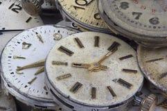 Struttura di vecchio orologio Immagine Stock