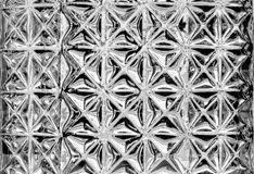 Struttura di vetro d'annata del primo piano Immagini Stock