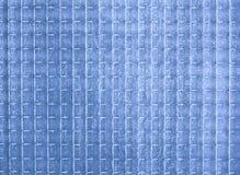 Struttura di vetro opaca blu Fotografia Stock