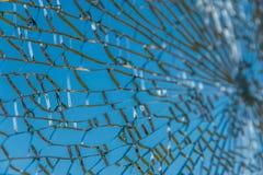 Struttura di vetro rotta Fotografie Stock