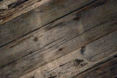 Struttura diagonale del fondo delle plance del legname galleggiante Fotografie Stock Libere da Diritti