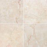Struttura differente quattro di un marmo leggero e scuro (Livello ricerca ) Fotografie Stock