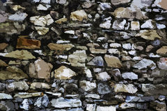 Struttura dipinta della parete di pietra Fotografia Stock Libera da Diritti