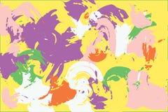 Struttura dipinta gouache luminosa illustrazione vettoriale