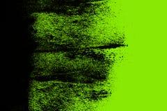 Struttura dipinta a mano del fondo di verde nero e giallo con i colpi della spazzola di lerciume illustrazione vettoriale