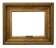Struttura dorata antica isolata su fondo bianco immagini stock libere da diritti