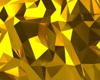 Struttura dorata astratta del triangolo illustrazione vettoriale