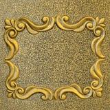Struttura dorata d'annata del metallo Fotografia Stock Libera da Diritti