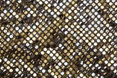 Struttura dorata del tessuto Fotografia Stock