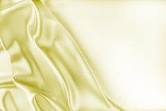 Struttura dorata del tessuto di seta Fotografie Stock Libere da Diritti