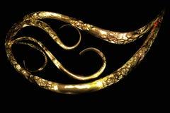 Struttura dorata dell'elemento dell'ornamento Fotografia Stock Libera da Diritti
