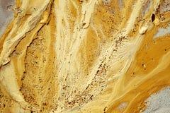 Struttura dorata della sabbia sulla spiaggia Fotografia Stock Libera da Diritti