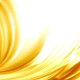 Struttura dorata della seta del raso del fondo astratto Fotografie Stock Libere da Diritti