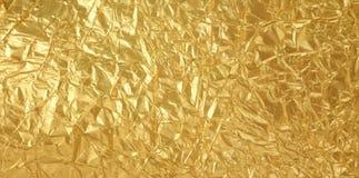 Struttura dorata della stagnola Fotografie Stock Libere da Diritti