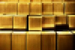 Struttura dorata di frattale illustrazione di stock