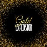 Struttura dorata di lusso Scintillio della struttura dell'oro sul nero Immagini Stock Libere da Diritti