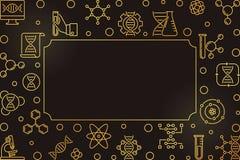 Struttura dorata di vettore biologico di scienza e di ingegneria royalty illustrazione gratis