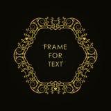 Struttura dorata elegante nello stile d'avanguardia del profilo Fotografia Stock