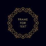 Struttura dorata elegante nello stile d'avanguardia del profilo Immagine Stock