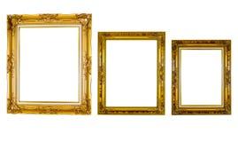 Struttura dorata isolata Fotografia Stock