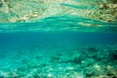 Struttura e fauna subacquee in mare ionico immagine stock