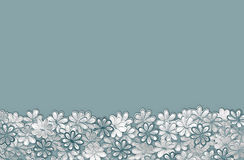 Struttura e fondo del modello di fiori del turchese del ricamo sulla a Fotografia Stock
