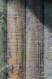 Struttura e fondo del recinto di legno con una ragnatela Immagini Stock