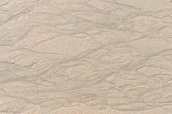 Struttura e fondo della spiaggia di sabbia Fotografie Stock Libere da Diritti