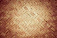 Struttura e fondo di bambù del rattan Fotografia Stock