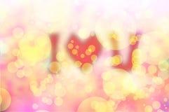 Struttura e fondo dolci di amore del bokeh di blure di giorno di biglietti di S. Valentino Immagini Stock