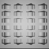 Struttura e fondo geometrici bianchi Fotografie Stock Libere da Diritti