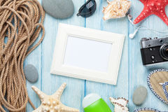 Struttura e oggetti della foto di vacanza e di viaggio Fotografia Stock Libera da Diritti